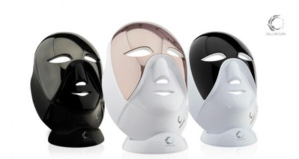 왼쪽부터 셀리턴 LED마스크 블랙에디션·프리미엄·스탠다드. 5월 중 셀리턴 LED프리미엄 마스크 구매 시 마스크 전용 테라피 히알루론산 앰플(50ml) 3병을 증정한다.