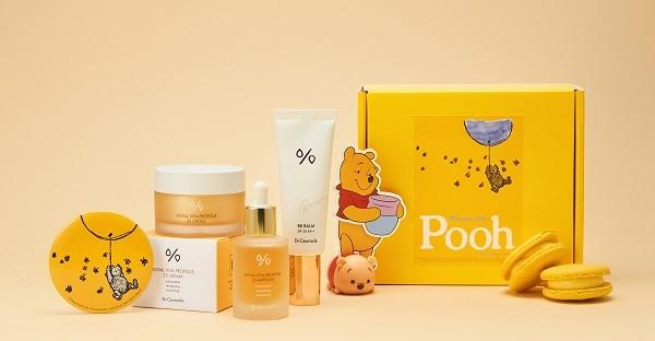 닥터슈라클이 곰돌이 푸우가 사랑한 꿀과 닥터슈라클 프로폴리스 라인의 만남을 콘셉트로 구성한 콜라보레이션 제품을 선보였다.
