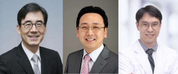 왼쪽부터 김효수 교수, 박경우 교수, 강지훈 교수