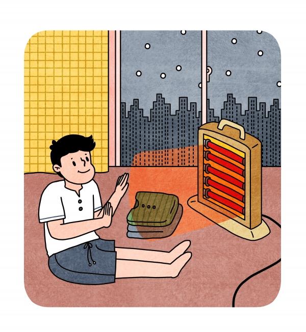 온열기기를 잘못 사용하면 ▲저온화상 ▲하지정맥류 ▲건조증 등을 유발할 수 있어 사용 시 주의해야한다(사진=클립아트코리아).