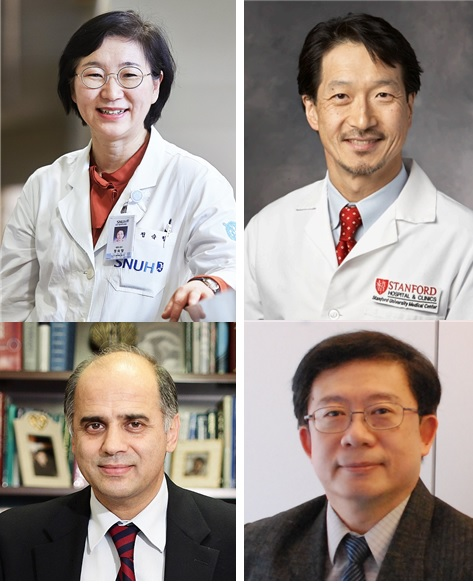 (from the left, clockwise) ▲Jeong, Sook-hyang (Dept. of Gastroenterology, Seoul National University Bundang Hospital) ▲W. Ray Kim (Dept. of Gastroenterology, Stanford University Medical Center) ▲George Papatheodoridis (professor at the National and Kapodistrian University of Athens, Medical School) ▲Jia-Horng Kao (professor at National Taiwan University College of Medicine)